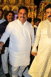 Talasani Srinivas Yadav Son Sai Yadav-Mahita Wedding Reception