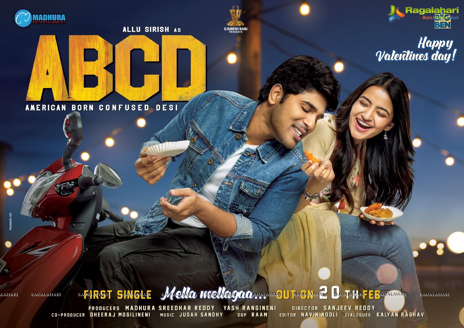 Allu Sirish ABCD(American Born Confused Desi) Valentines Day Poster