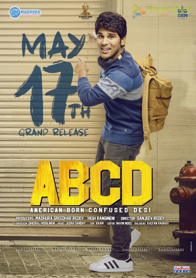 Allu Sirish ABCD(American Born Confused Desi) May 17th Release date Poster