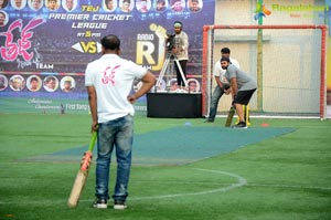Tej I Love You Team Vs RJ's Team Cricket Match