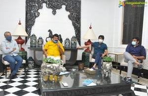 Industry Bigwigs Met at Chiranjeevi's House