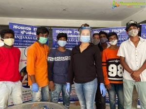 Sanjjanaa Galrani's team helps people in pandemic
