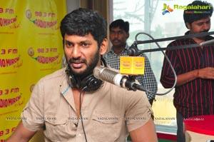 Vishal Krishna at Radio Mirchi