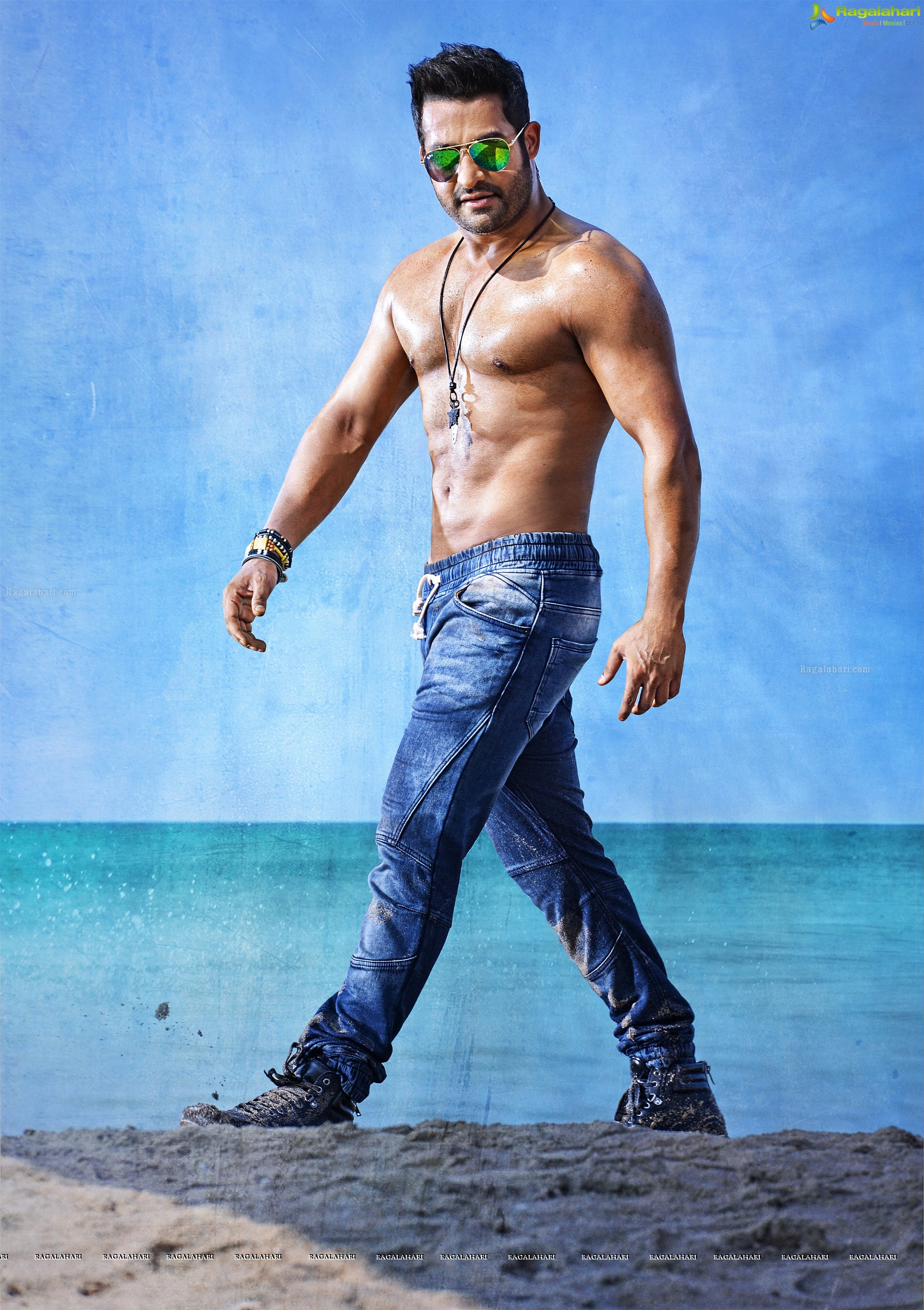 NTR's Six Pack Shirtless Photos from Temper
