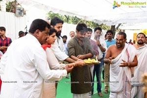 Nithiin-Trivikram Srinivas-Pawan Kalyan Film Muhurat