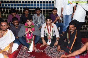 Arjun Suravaram Team at Bhadrakali Temple Warangal