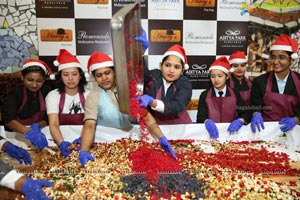 Hotel Aditya Park Celebrates Cake Mixing Event