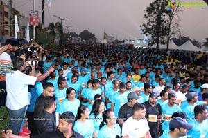 Hyderabad 10k Run Flag Off