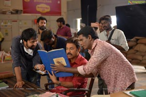 Venky Mama working stills