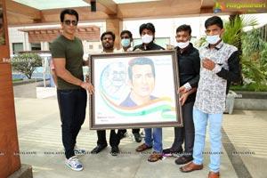 Sameer khan Along with Dr. Neelima Arya Met Sonu Sood