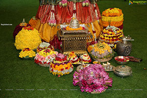Shriya's Bathukamma Celebrations