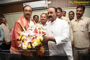 TSFDC Chairman Ram Mohan Rao Pramana Svikaram