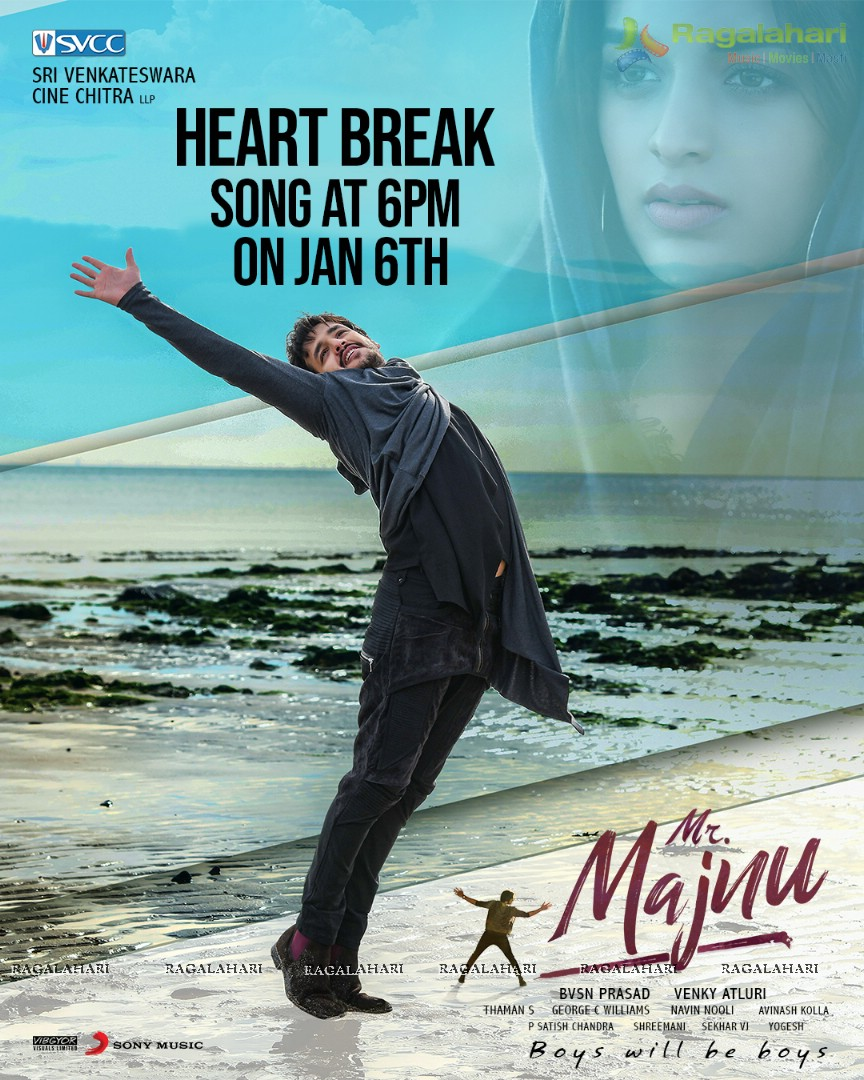 Mr Majnu Song Launch Poster