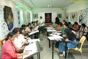 Ikebana Painting Workshop at Aalankritha Art Gallery